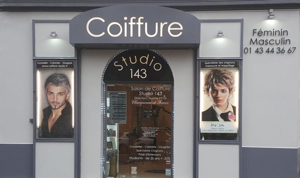 devanture coiffure studio143